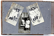 photo album page with young girls casual posing England 1920s