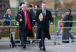 © Licensed to London News Pictures. 07/12/2016. London, UK. Attorney General Jeremy Wright QC (right) arrives at the Supreme Court in Westminster with Lord Keen (left) for the third day of a Supreme Court hearing to appeal against the November 3 High Court ruling that Article 50 cannot be triggered without a vote in Parliament. Photo credit: Rob Pinney/LNP