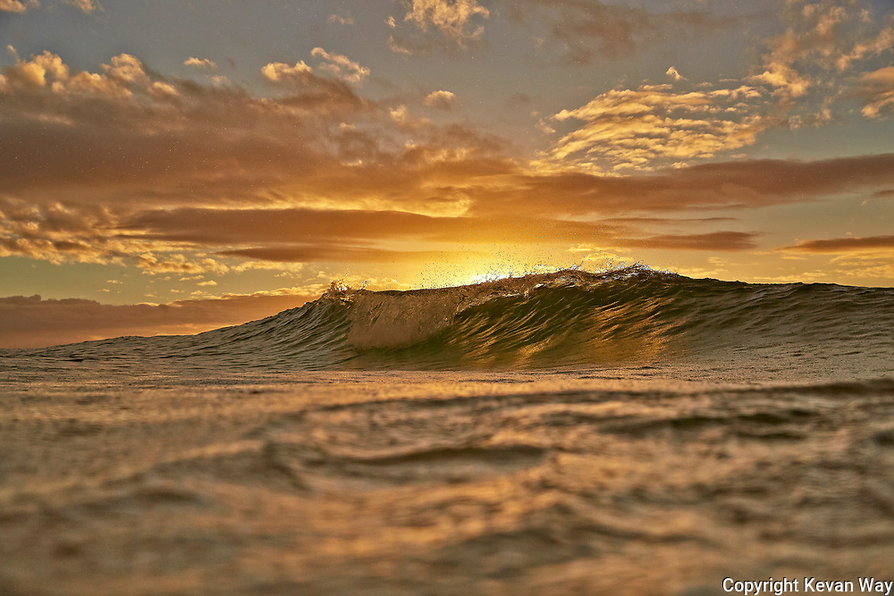 sunset wave in Byron