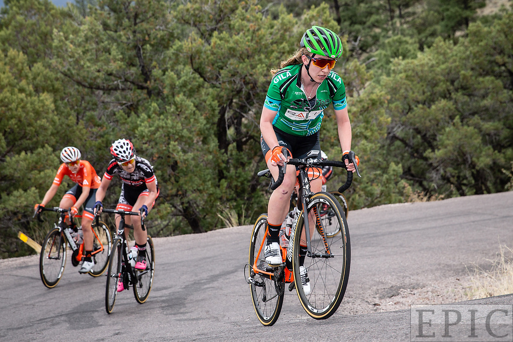 SILVERY CITY, NM - APRIL 22: Emma White (Rally Cycling) during stage 5 of the Tour of The Gila on April 22, 2018 in Silver City, New Mexico. (Photo by Jonathan Devich/Epicimages.us)