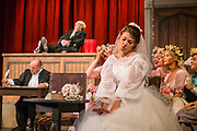 Dress rehearsal of Trial By Jury performed by the National Gilbert &amp; Sullivan Opera Company in Buxton Opera House, Buxton, England on Saturday 04 August 2018 Photo: Jane Stokes<br /> <br /> Director: Neil Smith<br /> Musical Director: James Hendry