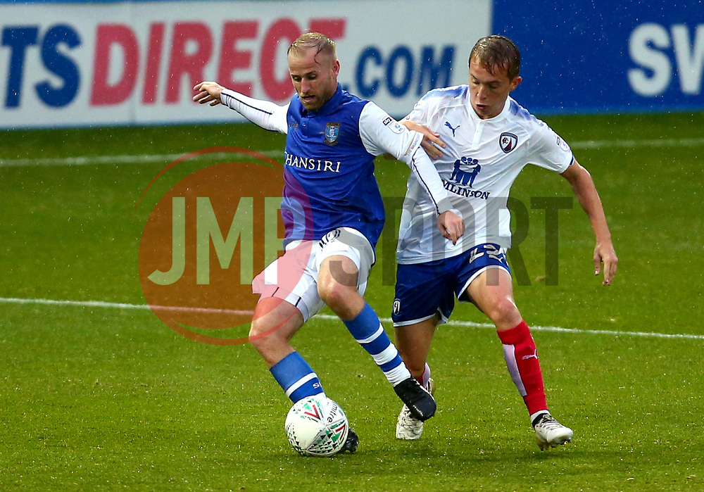 Barry Bannan of Sheffield Wednesday takes on Louis Reed of Chesterfield - Mandatory by-line: Robbie Stephenson/JMP - 08/08/2017 - FOOTBALL - Hillsborough - Sheffield, England - Sheffield Wednesday v Chesterfield - Carabao Cup