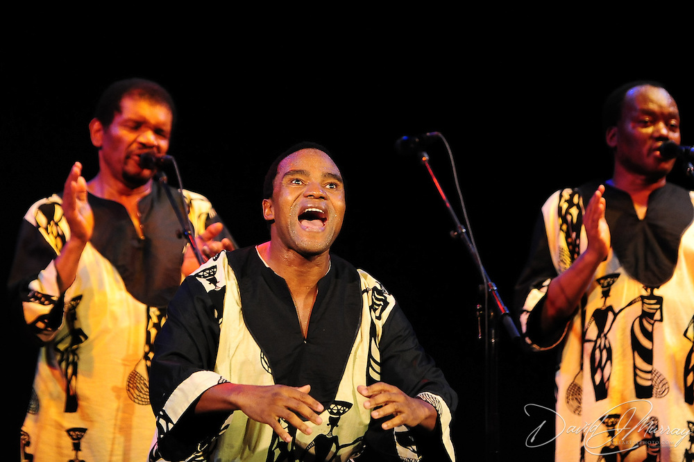 Ladysmith Black Mambazo member Thulani Shabalala performing at The Music Hall, Portsmouth, NH