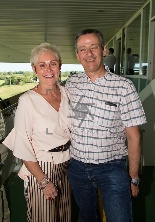 17.06.2017         <br /> Pictured at the Limerick Racecourse Twilight Racing series 2017 at Greenmount Park were, Ann and Adrian O'Sullivan, Piercom. Picture: Alan Place.