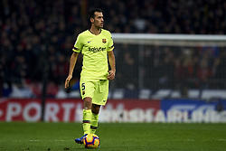 November 24, 2018 - Madrid, Madrid, Spain - Sergio Busquets of Barcelona during the week 13 of La Liga match between Atletico Madrid and FC Barcelona at Wanda Metropolitano Stadium in Valencia, Spain on November 24, 2018. (Credit Image: © Jose Breton/NurPhoto via ZUMA Press)