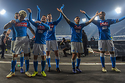 December 29, 2018 - Naples, Naples, Italy - SSC Napoli Players celebrate during the Serie A TIM match between SSC Napoli and Bologna FC at Stadio San Paolo Naples Italy on 29 December 2018. (Credit Image: © Franco Romano/NurPhoto via ZUMA Press)
