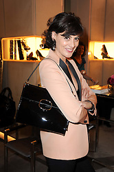 INES DE LA FRESSANGE at a party to celebrate the launch of Miss Viv handbag by Roger Vivier hosted by Ines de la Fressange and Jeanne Marine at the Roger Vivier stoe in Sloane Street, London on 16th March 2010.  Earlier in the day thieves attempted to steal the bags in a smash & grab raid but he bags were recovered and the party went ahead.