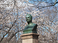 Bust of composer Victor Herbert (1859-1924) near the bandshell in Central Park.