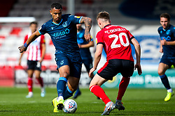 Jonson Clarke-Harris of Bristol Rovers takes on Callum Connolly of Lincoln City - Mandatory by-line: Robbie Stephenson/JMP - 14/09/2019 - FOOTBALL - Sincil Bank Stadium - Lincoln, England - Lincoln City v Bristol Rovers - Sky Bet League One