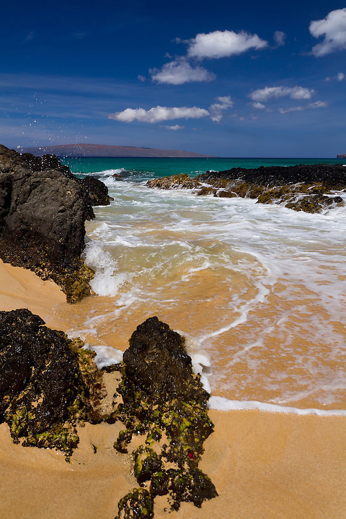A rocky inlet at Makena Cove, also known as Secret Beach, in Maui, Hawaii.