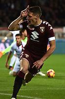 Torino 02-11-2016 Stadio Olimpico Football serie A 2016/2017 Torino - Cagliari foto Image Sport/Insidefoto<br /> nella foto: esultanza gol Andrea Belotti. Goal celebration