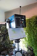 Volcano monitoring equipment an early spectrometer Casa de los Volcanes volcanic study centre, Lanzarote, Canary island, Spain