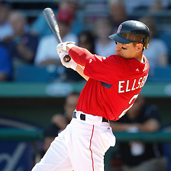 March 7, 2011; Fort Myers, FL, USA; Boston Red Sox left fielder Jacoby Ellsbury (2) during a spring training exhibition game against the Baltimore Orioles at City of Palms Park.   Mandatory Credit: Derick E. Hingle