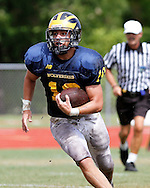 Belen Jesuit Prep Inter-Squad game. Saturday August 20, 2011. The White Squad won 7-0 over the blue squad.