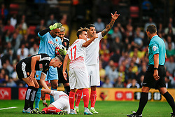 Ciro Immobile of Sevilla injured - Mandatory by-line: Jason Brown/JMP - Mobile 07966 386802 31/07/2015 - SPORT - FOOTBALL - Watford, Vicarage Road - Watford v Sevilla - Pre-Season Friendly