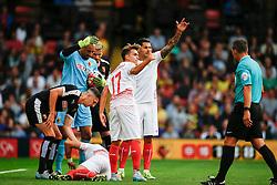 Ciro Immobile of Sevilla injured - Mandatory by-line: Jason Brown/JMP - Mobile 07966 386802 31/07/2015 - SPORT - FOOTBALL - Watford, Vicarage Road - Watford v Sevilla - Pre-Season Friendly