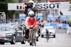 Emelie Roe Utvik at UCI Road World Championships Junior Women's Individual Time Trial 2017 a 16.1 km time trial in Bergen, Norway on September 18, 2017. (Photo by Sean Robinson/Velofocus)