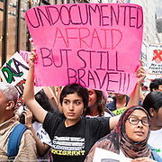 """Protests at Trump Tower in New York City, NY on August 15, 2017. - See more images by clicking on """"Image Galleries"""" at the top left of this page and then selecting """"Anti-Trump Administration Rallies"""""""