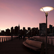Manhattan, New York City Skyline as seen from Gantry Plaza State Park in Long Island CIty