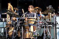 David Cossin during sound check with Sting at Jones Beach on July 27, 2010. .Photo Credit; Rahav / Photopass.com