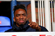 Peterborough Utd forward Ivan Toney (17) upset he is suspended before the EFL Sky Bet League 1 match between Peterborough United and Wycombe Wanderers at London Road, Peterborough, England on 2 March 2019.