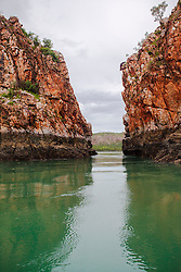 Slackwater at the Horizontal Waterfalls in the Kimberley wet season.