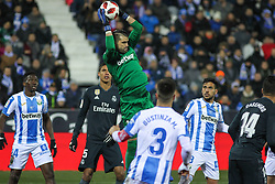 January 16, 2019 - Leganes, Madrid, Spain - Cuellar of Leganes in action during the King Spanish championship, , football match between Leganes and Real Madrid on January 16th at Butarque Stadium in Leganes, Madrid, Spain. (Credit Image: © AFP7 via ZUMA Wire)