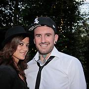 NL/Blaricum/20110915 - Lancering single Gordon & Los Angeles The Voices en CVSTOS watches, Ben Saunders en partner Soraya Akhbar