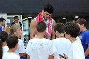 TRENTO 09-08-2013  BASKET TRENTINO CUP - ALLENAMENTO<br /> NELLA FOTO: ALESSANDRO GENTILE<br /> FOTO : CIAMILLO