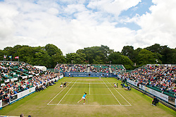 LIVERPOOL, ENGLAND - Saturday, June 20, 2009: 2009 Laura Robson (GBR) in action during the Women's Final at the Tradition ICAP Liverpool International Tennis Tournament at Calderstones Park. (Pic by David Rawcliffe/Propaganda)