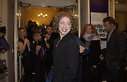 Chelsea Clinton. Unite for the Future. Sept 11 Charity benefit Old Vic. 18 November 2001. © Copyright Photograph by Dafydd Jones 66 Stockwell Park Rd. London SW9 0DA Tel 020 7733 0108 www.dafjones.com