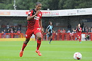 Lewis Young charging forward during the Sky Bet League 2 match between Crawley Town and Wycombe Wanderers at the Checkatrade.com Stadium, Crawley, England on 29 August 2015. Photo by Michael Hulf.