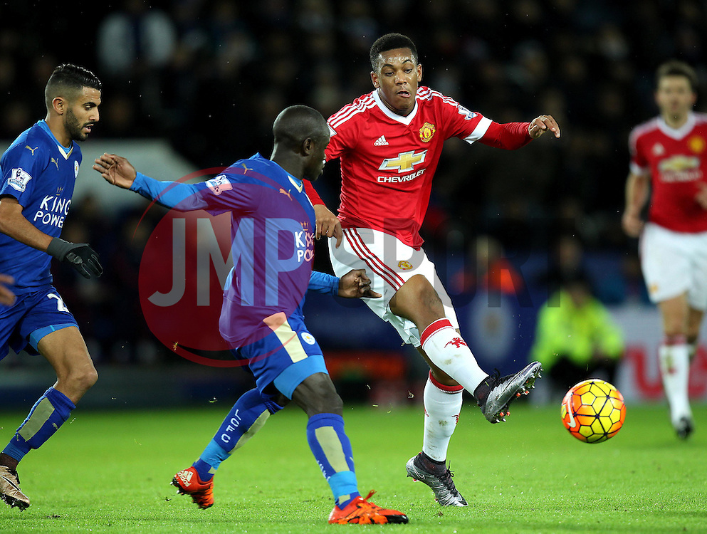Anthony Martial of Manchester United passes the ball with the outside of his foot - Mandatory byline: Robbie Stephenson/JMP - 28/11/2015 - Football - King Power Stadium - Leicester, England - Leicester City v Manchester United - Barclays Premier League
