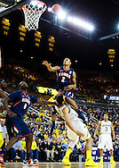 February 24, 2013; Ann Arbor, MI, USA; Illinois Fighting Illini guard Joseph Bertrand (2) is fouled by Michigan Wolverines forward Jordan Morgan (52) as he goes to the basket in the second half at Crisler Center. Michigan won 71-58. Mandatory Credit: Rick Osentoski-USA TODAY Sports