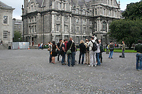 Tour group at Trinity College Dublin Ireland