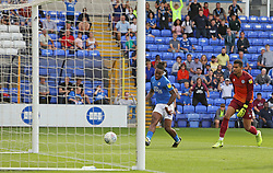 Ivan Toney of Peterborough United rounds Robert Sanchez of Rochdale to score his second goal of the game - Mandatory by-line: Joe Dent/JMP - 14/09/2019 - FOOTBALL - Weston Homes Stadium - Peterborough, England - Peterborough United v Rochdale - Sky Bet League One