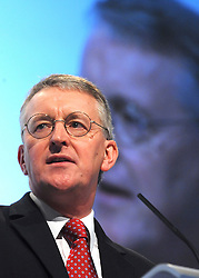 © Licensed to London News Pictures. 29/09/2011. LONDON, UK. Hilary Benn, Shadow Leader of the House addresses The Labour Party Conference in Liverpool today (29/09/11). Photo credit:  Stephen Simpson/LNP