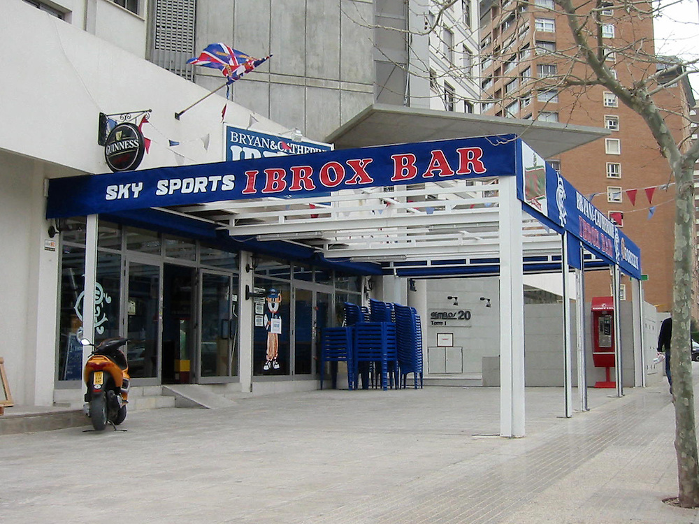 Loyalist Bars in Benidorm, Costa Blanca, Spain.