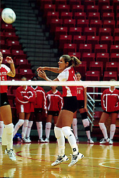 September 01, 2001:  Illinois State Redbirds volleyball player Erin Jones...This image was scanned from a print.  Image quality may vary.  Dust and other unwanted artifacts may exist.