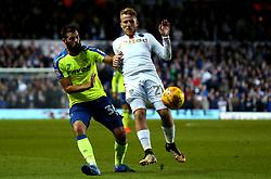 Samu Saiz of Leeds United tackles Joe Ledley of Derby County - Mandatory by-line: Robbie Stephenson/JMP - 31/10/2017 - FOOTBALL - Elland Road - Leeds, England - Leeds United v Derby County - Sky Bet Championship