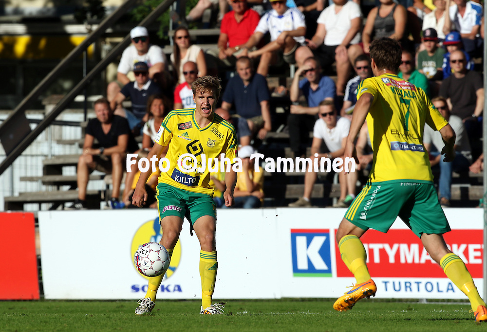 16.8.2015, Tammelan stadion, Tampere.<br /> Veikkausliiga 2015.<br /> Ilves - FF Jaro.<br /> Tatu Miettunen - Ilves