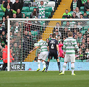 Celtic's Leigh Griffiths heads his side's opener -  Celtic v Dundee - SPFL Premiership at Celtic Park<br /> <br /> <br />  - © David Young - www.davidyoungphoto.co.uk - email: davidyoungphoto@gmail.com