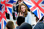 The Duchess of Cambridge  Catherine visits Kensington Aldridge Academy in Londen