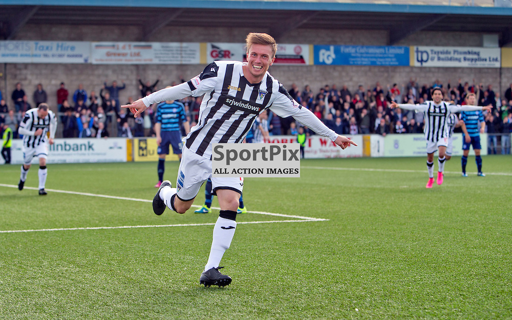 Forfar Athletic v Dunfermline Athletic SPFL League One Season 2015/16 Station Park 05 September 2015<br /> Joe Cardle makes it 1-0<br /> CRAIG BROWN | sportPix.org.uk