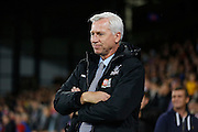 Alan Pardew looks relaxed ahead of the Capital One Cup match between Crystal Palace and Charlton Athletic at Selhurst Park, London, England on 23 September 2015. Photo by Michael Hulf.