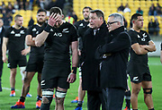Dejected New Zealand's Kieran Read and coach Steve Hansen. All Black's v South Africa, Rugby Championship, Westpac Stadium, Wellington, New Zealand. Saturday, 27 July, 2019. Copyright photo: John Cowpland / www.photosport.nz