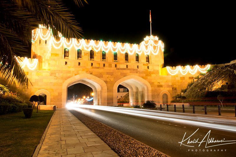 Muscat Gate at night