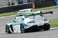 #4 Ahmad Al Harthy/Michael Caine - Oman Racing Team, Aston Martin Vantage GT3 during British GT Championship race at Rockingham, Corby, Northamptonshire, United Kingdom. May 05 2014. World Copyright Peter Taylor/PSP. Copy of publication required for printed pictures.  Every used picture is fee-liable. http://archive.petertaylor-photographic.co.uk