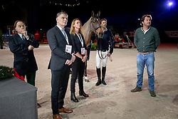 Libbrecht Xavier, Pedersen Jan, Everse Mischa, NED, breeders of Zinius, Smolders Harrie, Everse Mario<br /> CHI Genève 2018<br /> © Hippo Foto - Dirk Caremans<br /> 08/12/2018
