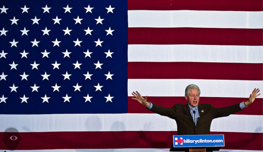 President Bill Clinton speaks during an organizing event for Hillary at the Advanced Technologies Academy on Thursday, January 21, 2016. L.E. Baskow